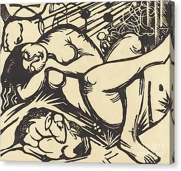 Sleeping Shepherdess Canvas Print