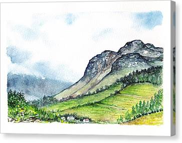 Canvas Print featuring the painting Sleeping Valley by Heidi Kriel