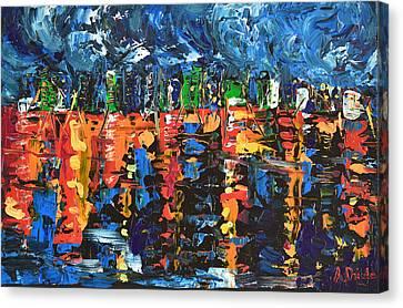 Sleepless City Canvas Print