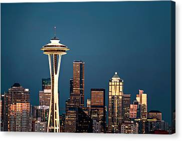 Sleepless In Seattle Canvas Print by Eduard Moldoveanu