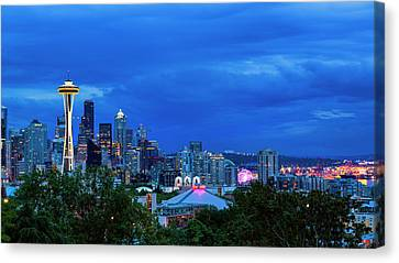 Sleepless In Seattle Canvas Print by Stephen Stookey
