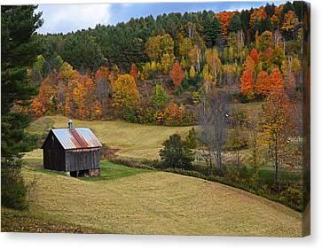 Sleepy Hollows Farm Woodstock Vermont Vt Pond Shack Canvas Print