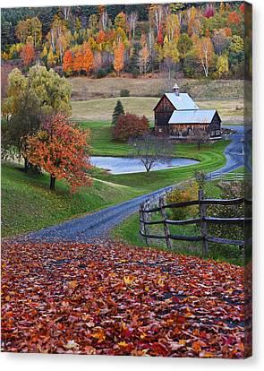 Sleepy Hollows Farm Woodstock Vermont Vt Canvas Print