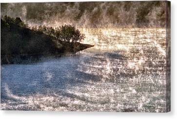 Sleepy Morning On The Lake Canvas Print