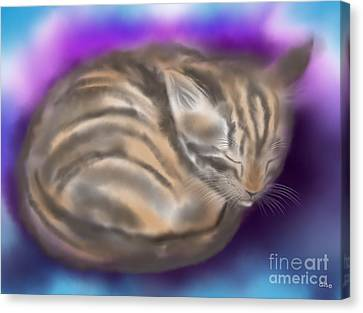 Canvas Print featuring the painting Sleepy Sam by Nick Gustafson
