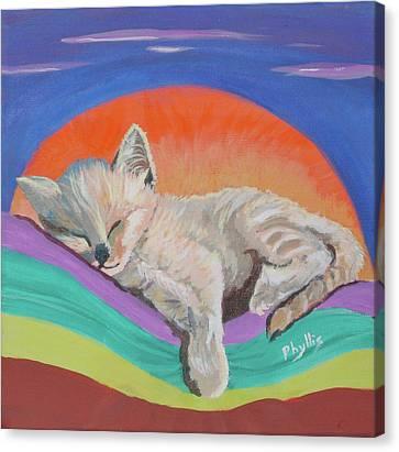 Sleepy Time Canvas Print by Phyllis Kaltenbach