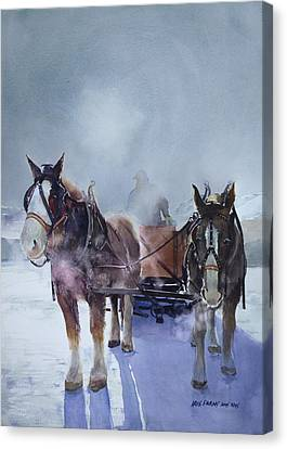 Sleigh Ride Canvas Print by Kris Parins