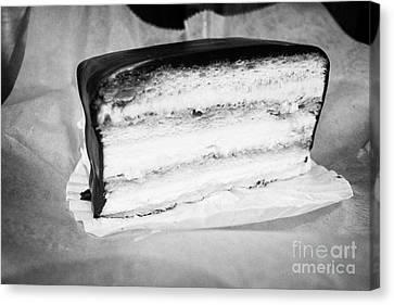 slice of Boston cream pie USA Canvas Print