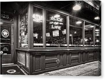 Slice Of Life In Wilmington North Carolina In Black And White Canvas Print by Greg Mimbs