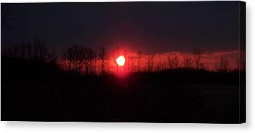 Slice Sunset Canvas Print