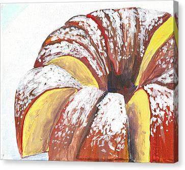 Sliced Bundt Cake Canvas Print