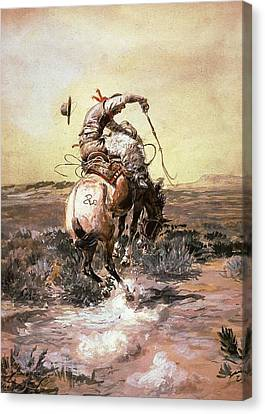 Slick Rider Canvas Print by Charles Russell
