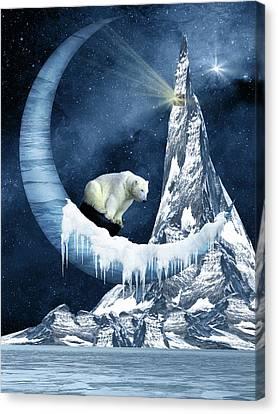 Sliding On The Moon Canvas Print