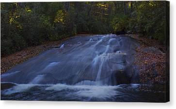 Canvas Print featuring the photograph Sliding Rock Falls by Ellen Heaverlo