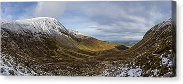 Slieve Commedagh And Slieve Donard Panorama From The Assent  Canvas Print