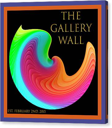 Canvas Print featuring the photograph Slinky Dove Of Peace-the Gallery Wall Logo by Wendy Wilton