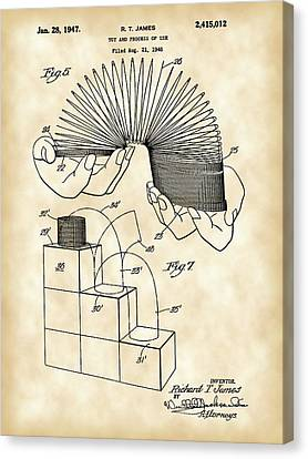 Slinky Patent 1946 - Vintage Canvas Print