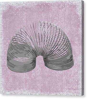 Slinky Canvas Print by Priscilla Wolfe