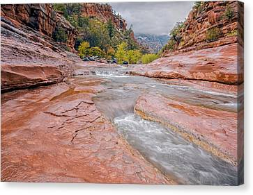 Slip And Slide Canvas Print by Aron Kearney