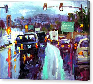 Slippery When Wet Canvas Print by Brian Simons