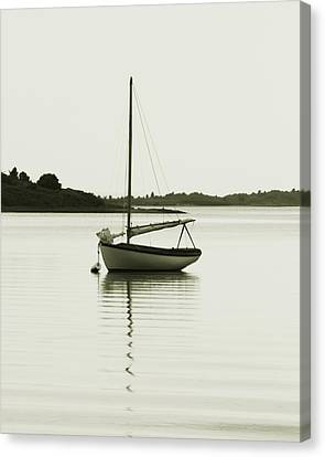 Sloop At Rest  Canvas Print by Roupen  Baker
