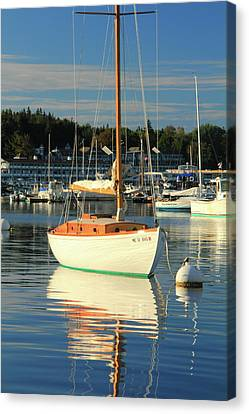 Canvas Print featuring the photograph Sloop Reflections by Roupen  Baker