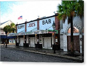 Sloppy Joe's Bar Key West Canvas Print by Bill Cannon