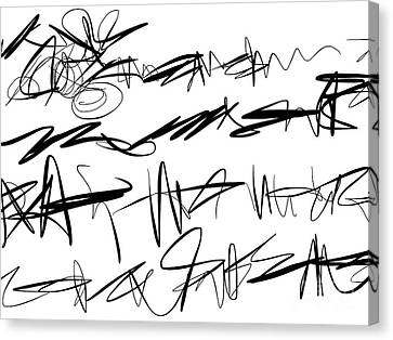 Sloppy Writing Canvas Print by Go Van Kampen