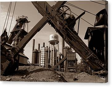Sloss Furnaces Canvas Print by Ty Evans
