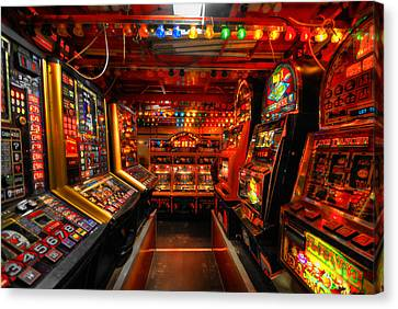 Slot Machines Canvas Print