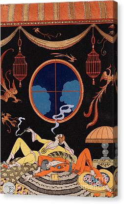 Sloth Canvas Print by Georges Barbier