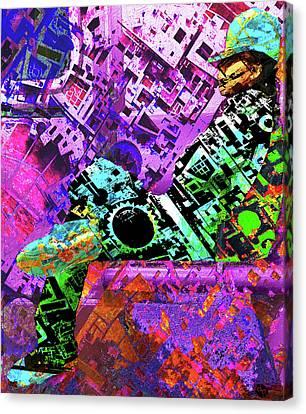 Canvas Print featuring the mixed media Slouch by Tony Rubino