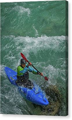 Canvas Print featuring the photograph Slovenia Kayaker by Stuart Litoff