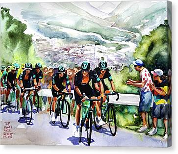 Slow And Steady Team Sky Canvas Print by Shirley Peters
