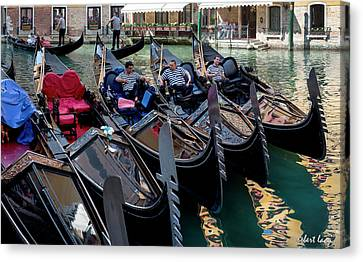 Slow Day, Venice Canvas Print by Robert Lacy