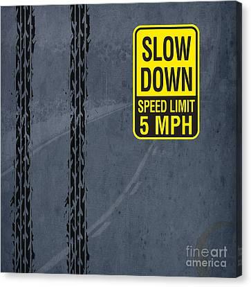 Slow Down, Man Canvas Print by Pablo Franchi