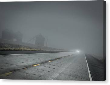 Slow Drive Home Canvas Print