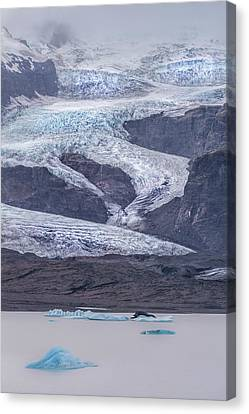 Slow Motion Glacier Canvas Print