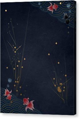 Slow Swim Canvas Print by Casey Shannon
