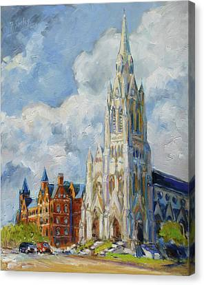 Canvas Print - Slu - Grand And Lindell, Saint Louis by Irek Szelag