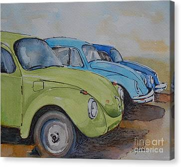 Slugbug Green Canvas Print by Gretchen Bjornson
