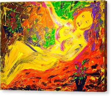 Canvas Print featuring the painting Slumber by Piety Dsilva
