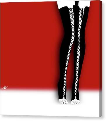 Slutty Legs Canvas Print