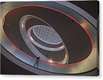 Sma Solar Technology Is Partially Canvas Print by Michael Melford