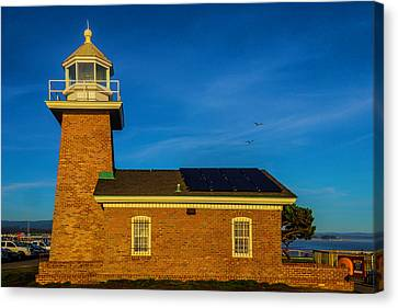 Small Brick Lighthouse Canvas Print by Garry Gay