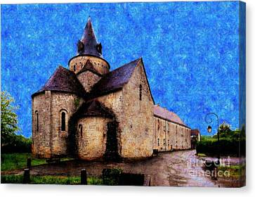 Small Church 1 Canvas Print by Jean Bernard Roussilhe