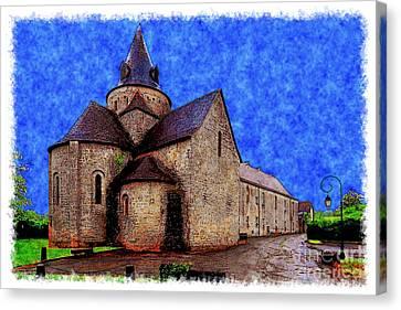 Small Church 2 Canvas Print by Jean Bernard Roussilhe