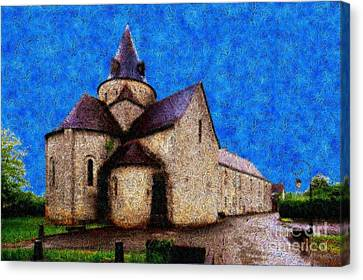 Small Church 4 Canvas Print by Jean Bernard Roussilhe