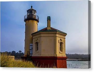 Red Roof Canvas Print - Small Coquile River Lighthouse by Garry Gay