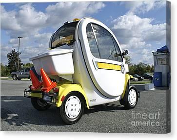 Traffic Enforcement Canvas Print - Small Electric Car For Traffic by Blair Seitz